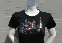 Skyline T-Shirt New York with Swarovski StrassSteinen